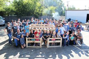 Qualbe Marketing Group Build Day with Sleep in Heavenly Peace