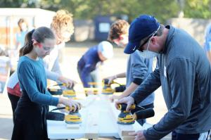 Qualbe Marketing Build Day - Building Beds for Kids in Need