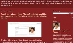 Blog of Janet Pittman Reed, NC Lawyer