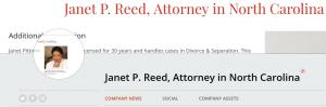 News Janet Pittman Reed Esq North Carolina