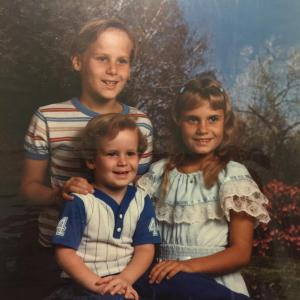 Jimmy Colson with His Younger Sister Melissa and Younger Brother Eli