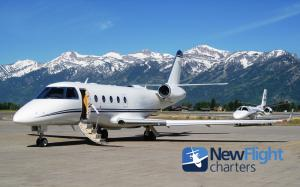 Private Jet Charter ready for departure from Jackson Hole Airport