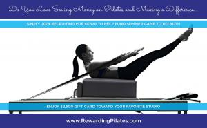 We Love Rewarding Women Who Make a Difference...Private Pilates