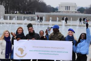Pan-African Diaspora Youth join Youth for Human Rights march.