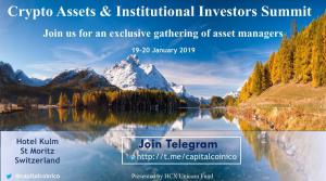 Swiss Crypto Assets & Institutional Investors Summit 19-20 January 2019