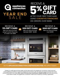 Appliances Connection Special Financing Rewards