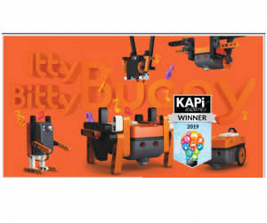 Itty Bitty Buggy orange toy box with KAPi award symbol