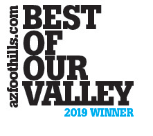 AZ Foothills Magazine Best of Our Valley Winner 2019 logo