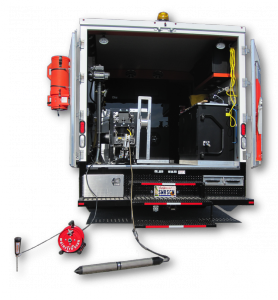 Electro Scan's award-winning machine-intelligent leak detection solution added to a standard CCTV truck.