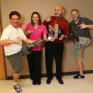 Kevin Bidwell, Sara Colson, Jimmy Colson, and Beau Marek at POP Prosthetics