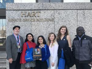 Youth advocated for legislation to combat Human Trafficking in Congress