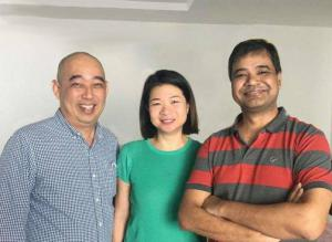 L-R: Desmond Lee (Head of Channels, ASEAN), Charlie Loke (Head of Marketing, APAC), Rohit Gupta (Founder & CEO)