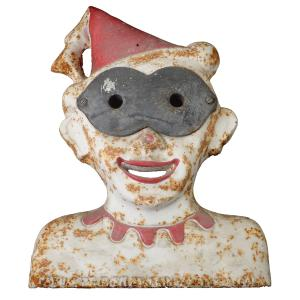 Painted Cast Iron Clown Carnival Gallery Target.