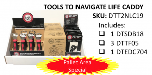 "Retailers can take advantage of special Pallet Area pricing on the ""Tools To Navigate Life Caddy"" at Orgill Spring Dealer Market."