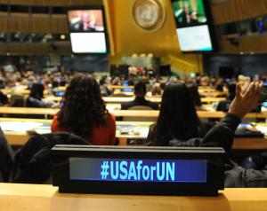 The theme of the conference was #USAforUN (Photo curtesy of the UNA-USA)