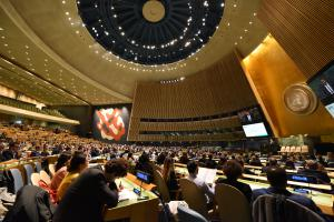 Advocates gathered in the General Assembly Hall for the Global Engagement Summit