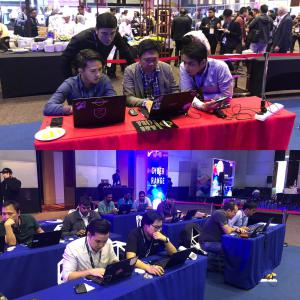 Picture of Blue teams and Red teams at the Cyber Range challenge at CPX 360 Bangkok