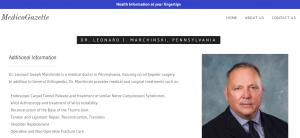 Physician Profile Dr Leonard J Marchinski