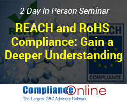 REACH and RoHS Regulation
