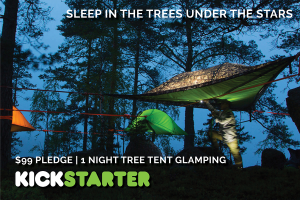 A peaceful and quiet weekend getaway is what you will get when you star gaze in your tree tent for two.