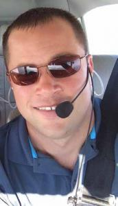 Doctor Matthew Bogard MD, Nebraska, Inside Comanche Airplane