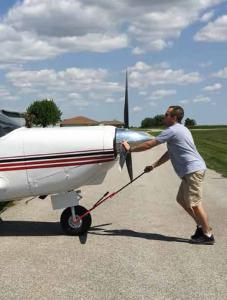 Doctor Matthew Bogard MD, Nebraska, with Comanche Airplane