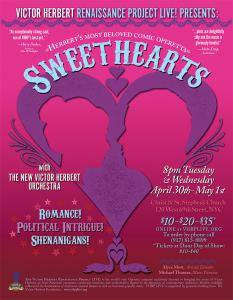 Sweethearts, the 1913 classic Victor Herbert operetta at Christ & St. Stephen's Church, April 30 & May 1