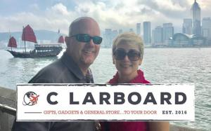The founders of C Larboard, Zoé and Rich Coulcher