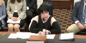 LE&RN Spokesperson Kathy Bates delivers Congressional testimony, April 2019
