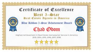 Chad Odom Certificate of Excellence Denton TX