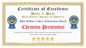 Christine Prestininzi Certificate of Excellence Lake Worth FL