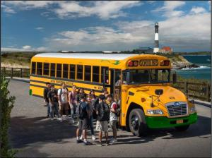 Students with bus