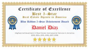 Daniel Diaz Certificate of Excellence Pharr TX