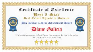 Diane Galicia Certificate of Excellence Sugar Land TX