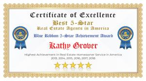 Kathy Grover Certificate of Excellence Highland Village TX