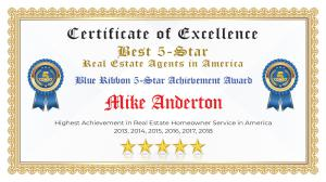 Mike Anderton Certificate of Excellence Turlock CA