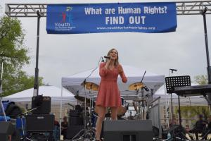 Sophia Angelica performing at the Human Rights Cherry Blossom Festival Concert.