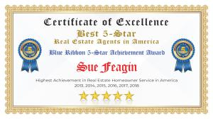 Sue Feagin Certificate of Excellence Marietta GA