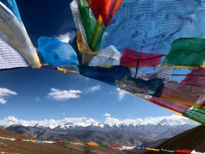 Buddhist Prayer Flags on Base Camp
