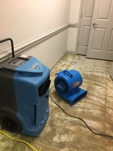 water mitigation equipment in Charlotte