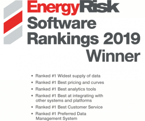 Voted by Peers ZE ranked one in Data Management Firms with EnergyRisk Software Ranking