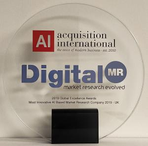 Most Innovative AI Based Market Research Company - UK award