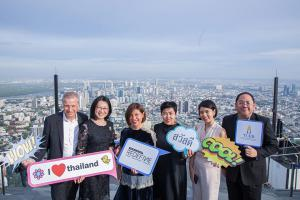 "TCEB – Business executives and private sector partners visited Mahanakhon SkyWalk, as part of ""MICE Thailand Signature"" press launch on 30 May 2019."