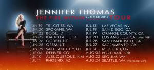 Jennifer Thomas list of tour dates, Summer 2019