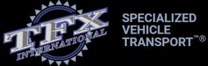 TFX International SPECIALIZED VEHICLE TRANSPORT™® logo and Registered trademark