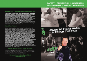 sdi7 HIIT Workout DVD Self Defense in 7 Minutes High Intensity Interval Training