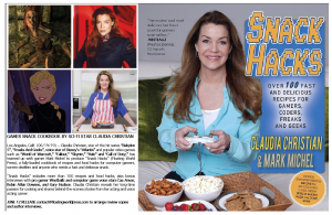cookbook, science fiction, Disney, recipes, snack hacks, Claudia christian,