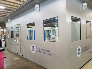 Boarder Security Booth completed modular, prefabricated in factory