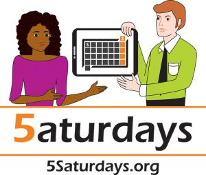 5 Saturdays STEAM Program Logo