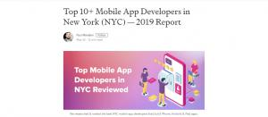 Top App Developers NY